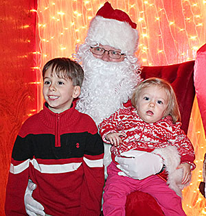 276028298 SANTA VISIT – Tripp Moore is all smiles as he visits with Santa Claus  during Humboldt Christmas on Main Street last Saturday evening at the  downtown ...
